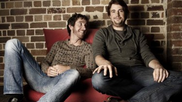 Scott Farquhar and Mike Cannon-Brookes, CEOs and founders of Atlassian Software.