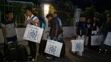 The second group of refugees to be accepted for resettlement in the US leave Port Moresby for the US last month.