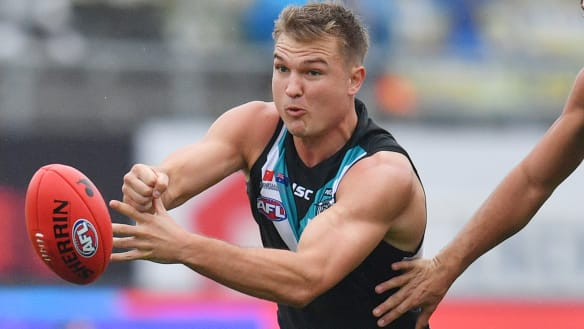 Ollie Wines commits long-term to Port Adelaide