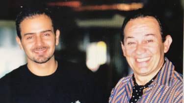 Matt Picone (left) with Sisto Malaspina at Pellegrini's in 1998.