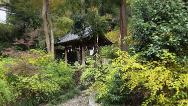 A small Shinto temple on the grounds of the Yamazaki Distillery owned by Suntory.
