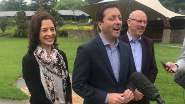 During the state election campaign, then-opposition leader Matthew Guy visited Gippsland with his wife Renae and Liberal candidate for Morwell Dale Herriman and pledged to back the coal industry.