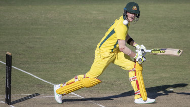Former Australian skipper Steve Smith made 22 off 43 balls on his return to the national team.