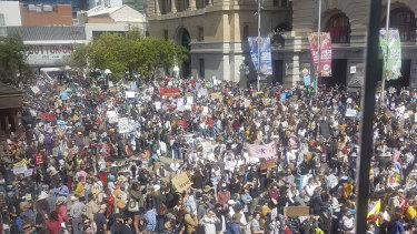 Perth climate protesters.