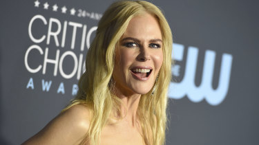 Nicole Kidman on the campaign trail, posing on the red carpet at the 24th annual Critics' Choice Awards in Santa Monica on January 13.