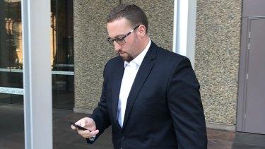 Carpenter Isaac Struss leaving the Federal Court.
