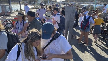 Rottnest Island jetty was packed as authorities moved to evacuate people after the announcement WA was going into a five-day lockdown on Sunday.