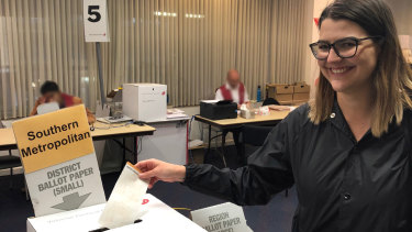Brittney Jones is one of the two million Victorians who are expected to vote early.