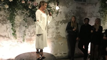 Donna Hay at the celebration of the 100th issue of her magazine on Wednesday.