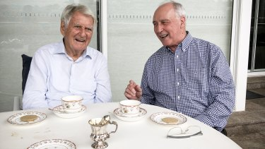 Former prime ministers Bob Hawke and Paul Keating reunite to endorse Bill Shorten's plan for the economy.
