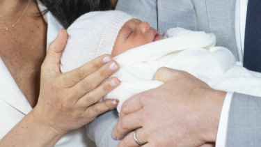A close up of the latest addition to the royal family.
