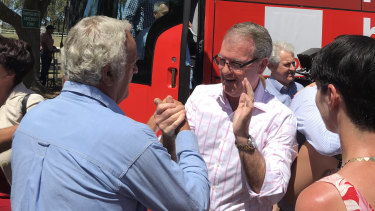 NSW Opposition leader Michael Daley in Nabiac for Country Labor's statewide campaign.