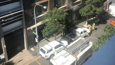 Fire crews work to extinguish a fire at Nomad restaurant in Surry Hills.