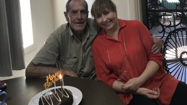 Allan celebrates at home with his daughter Jamelle on his last birthday on March 18, 2019.