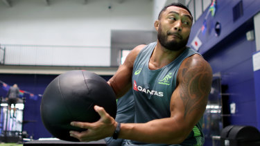 Hard yards: Sekope Kepu says Georgia's front row will be a handful for the Wallabies.