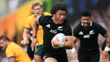 New Zealand winger Caleb Clarke during the big win at Eden Park.