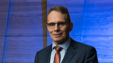 BHP boss Andrew Mackenzie pictured in Melbourne ahead of the release of the miner's December half year results.