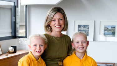 Amanda Meehan is able to collect her children from school twice a week thanks to her flexible work arrangement.