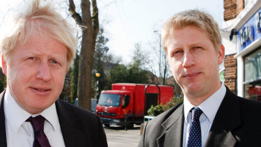 Boris Johnson with his brother Jo in 2013.