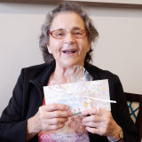 Catholic Healthcare's Villa Maria resident Gwen was happy to receive her letter.