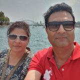 Paramjit Khare with her husband, Baljit.