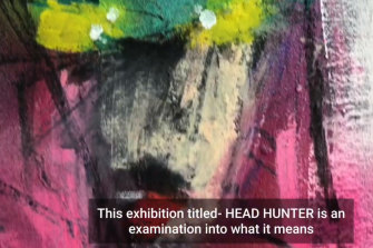 A screenshot from Anthony Lister's YouTube video for his upcoming exhibition Head Hunter.