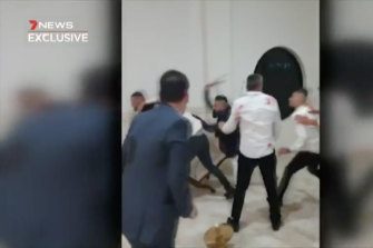 The brawl at the La Mirage.