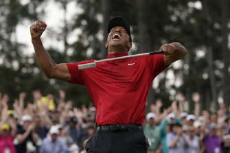Tiger Woods wins the Masters in 2019.