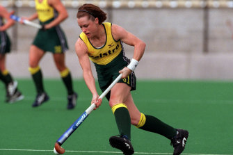Powell of Australia in action against China in 2000.