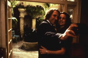 Gerard Depardieu and Andie MacDowell in Green Card.