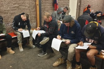 The players from the Yarra Glen Football Club take part in research conducted to better understand the drivers and harm caused by homophobic language in sport. The club has been at the forefront of tackling homophobia.