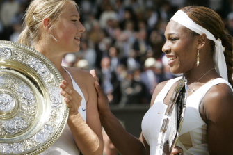 Sharapova beat Williams at Wimbledon in 2004 but her success against the great American wasn't to last.