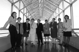 Labor women at the Emily's List launch at Parliament House in 1996.