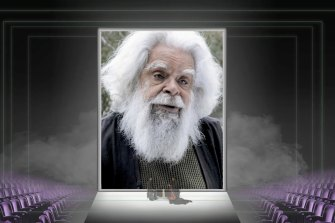 Uncle Jack Charles, patron of the Green Room Awards Association.