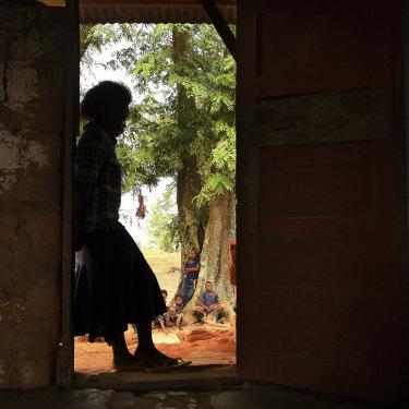 Former Kamuina Nsapu militia fighter 'Alice' in her village in Kasai Central.