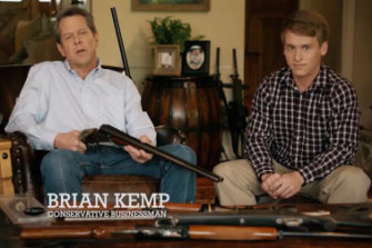 A still from Bill Kemp's campaign ad featuring a young man who wants to date his daughter.