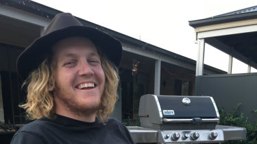 Lachie Poulter collapsed and died at the Learmonth oval near Ballarat on Saturday.