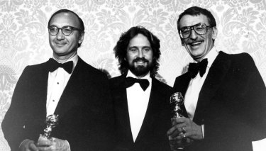 Neil Simon, Michael Douglas and Herbert Ross at the 1978 Golden Globes.