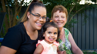Tracey Whetnall with daughter Shara Fowler and granddaughter Kalina, 2.