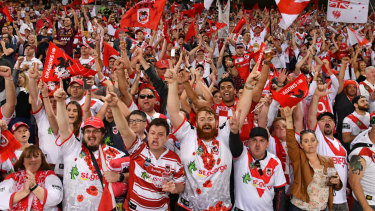 Red and white army: Dragons supporters have had a lot to shout about since Sunday.