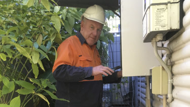 Electrician Glenn Beames is concerned about the policy change at Ausgrid.