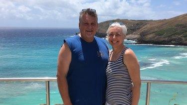 Katrina Bart and her second husband Chris.