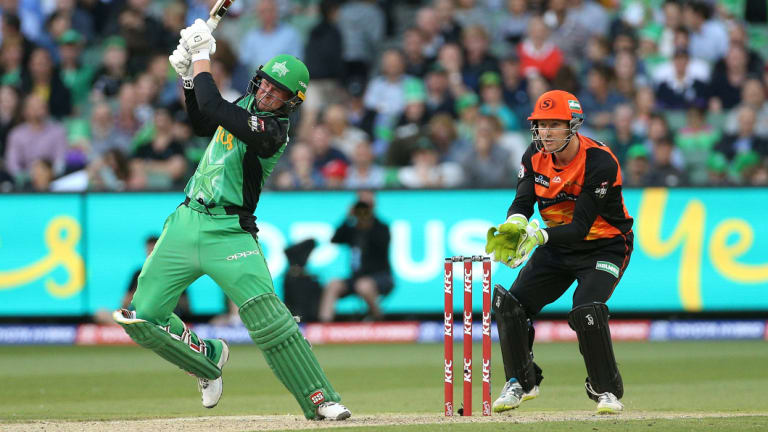 Star turn: Melbourne's Ben Dunk in action against the Scorchers.