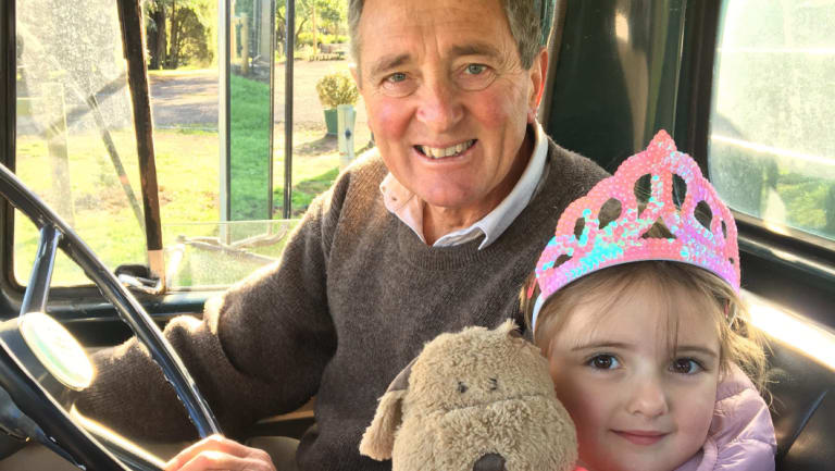 Mr Howard, seen here with his grand daughter Stevie, was devoted to his family.