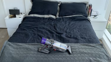 The Dyson V10 can become a powerful handheld vac, perfect for mattresses.
