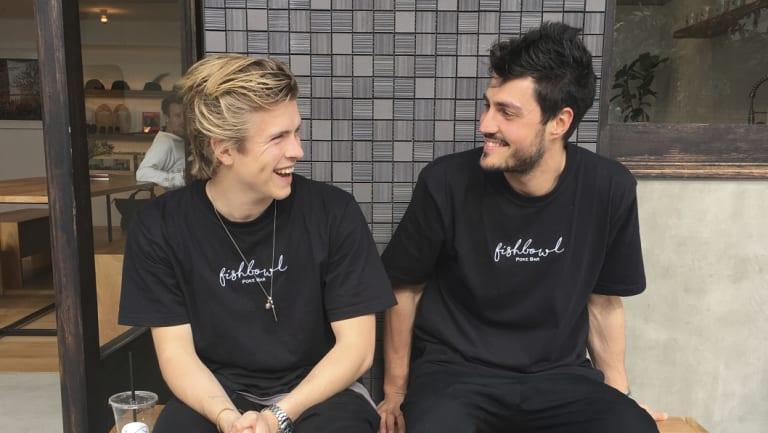 Nic Pestalozzi and Nathan Dalah, founders of Fishbowl.
