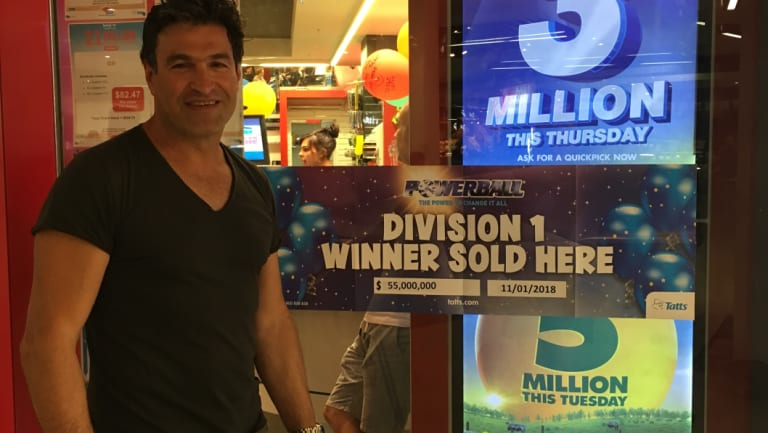 Sam Misiano, owner of Scole Lotto and News in Brunswick's Barkly Square, where the winning ticket was sold.