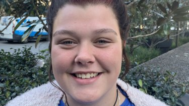 Marlie Thomas from Gunnedah High School can't cool off in her local river anymore.