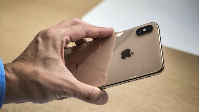 A new iPhone model at the Apple iPhone launch in Cupertino California.