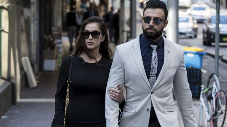 Salim Mehajer's sister Fatima Mehajer arrives at court.